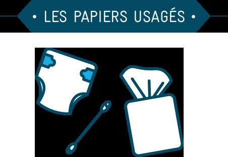 Les papiers usagés